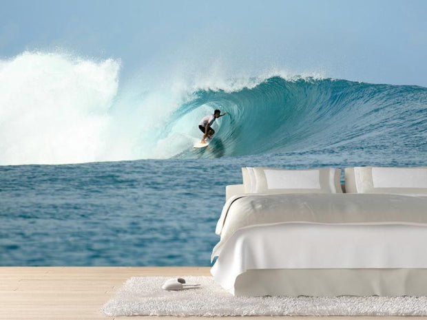 Surfer in barrel Wall Mural-Sports-Eazywallz