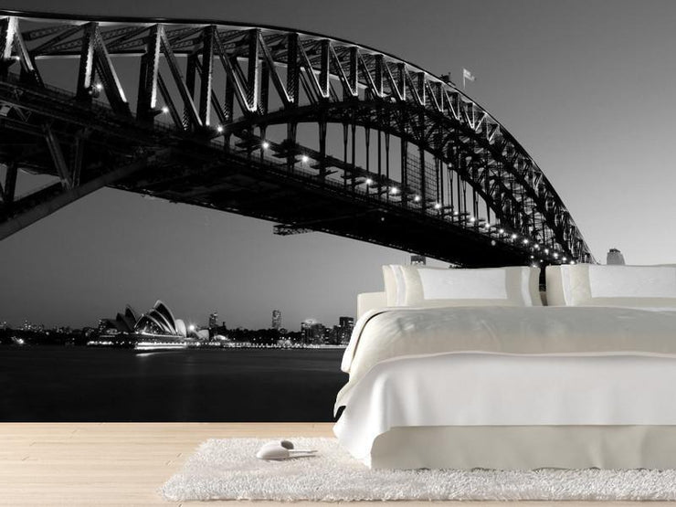 Sydney Harbour Bridge at night, Australia Wall Mural-Buildings & Landmarks,Cityscapes-Eazywallz