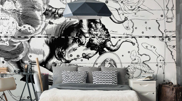 Taurus Constellation Map Wall Mural-astrology-Eazywallz