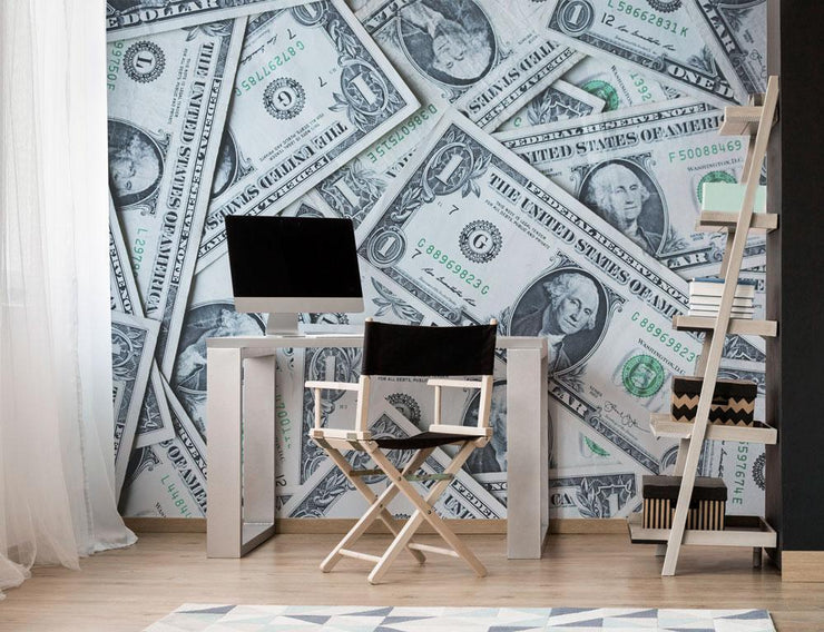 The Money Wall Mural-Urban,Textures,Modern Graphics-Eazywallz