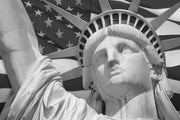 The Statue of Liberty, USA Wall Mural-Black & White,Buildings & Landmarks,Featured Category-Eazywallz