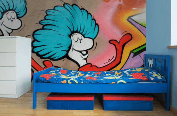 Thing 1 & 2 Graffiti Wall Mural-Urban-Eazywallz