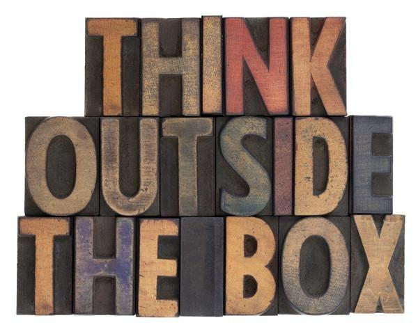 Think Outside The Box Wall Mural-Vintage,Words-Eazywallz