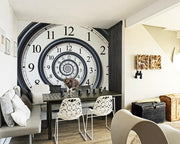 Time Spiral Mural-Abstract,Black & White,Sci-Fi & Fantasy-Eazywallz