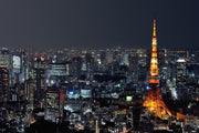 Tokyo tower at night Wall Mural-Cityscapes,Best Seller Murals,Staff Favourite Murals-Eazywallz