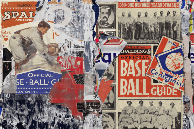 Torn Baseball Posters Wall Mural-Urban,Textures,Modern Graphics-Eazywallz
