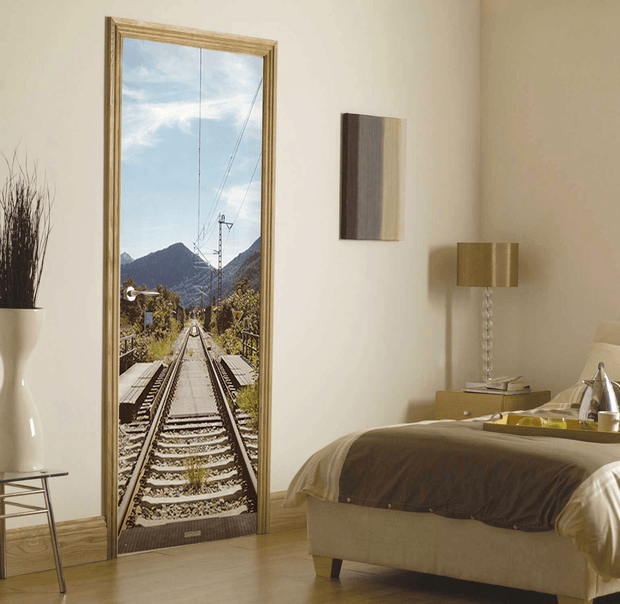 Train Rail Door Mural-Cityscapes,Transportation-Eazywallz