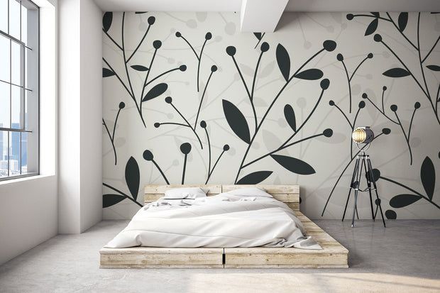 Trendy Petal Pattern Wallpaper Mural