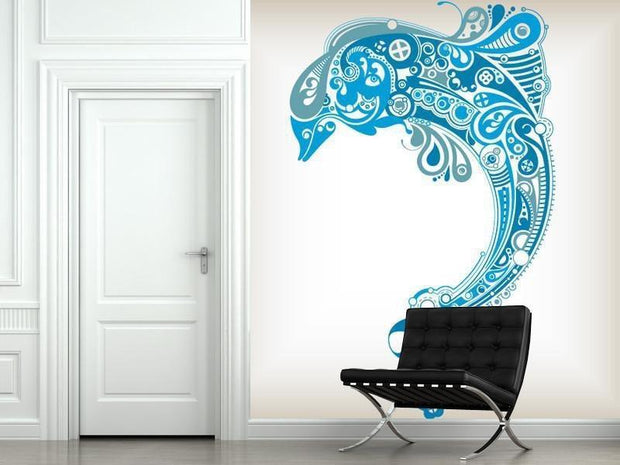 Tribal Dolphin Wall Mural-Animals & Wildlife,Modern Graphics-Eazywallz