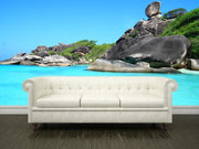 Turquoise sea Wall Mural-Tropical & Beach-Eazywallz