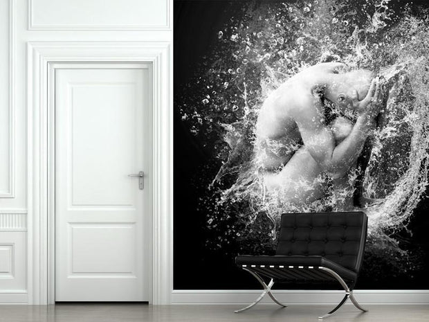 Under Water Wall Mural-Abstract,Black & White,Sci-Fi & Fantasy-Eazywallz
