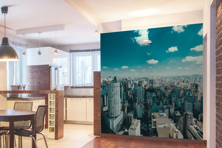 Urban Cityscape Wall Mural-Cityscapes-Eazywallz