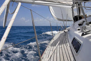View from luxurious sailboat Wall Mural-Sports,Transportation-Eazywallz