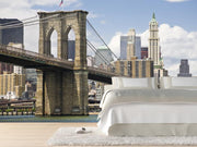 View of Brooklyn bridge and Manhattan Wall Mural-Cityscapes,Featured Category-Eazywallz