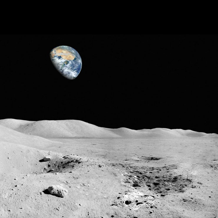 View of Earth from the Moon Wall Mural-Space-Eazywallz