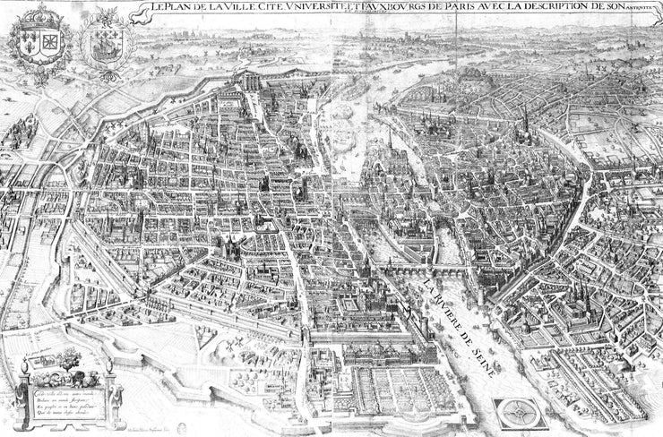 Vintage 1615 Map of Paris Wall Mural-Maps-Eazywallz