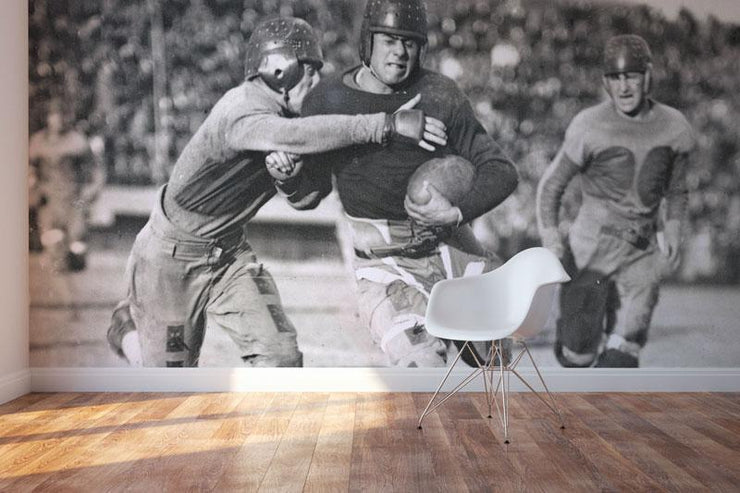 Vintage Football Action Wall Mural-Sports-Eazywallz