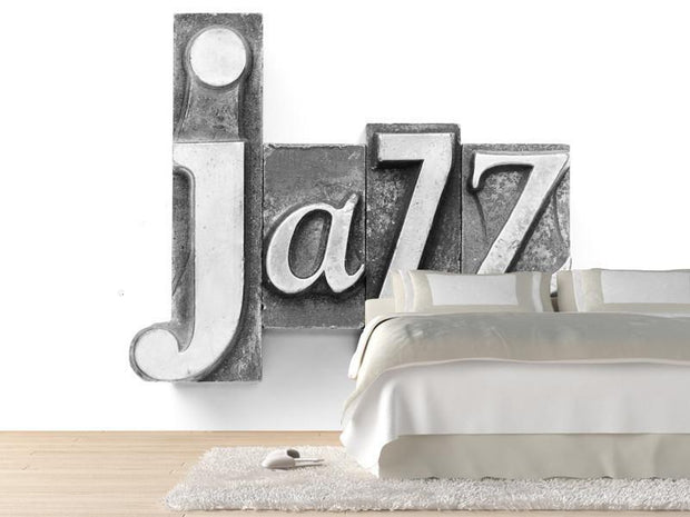 Vintage jazz word Wall Mural-Arts,Macro,Vintage,Words-Eazywallz