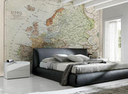 Vintage Map of Europe Wall Mural-Maps-Eazywallz
