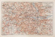 Vintage Map of London Wall Mural-Maps-Eazywallz