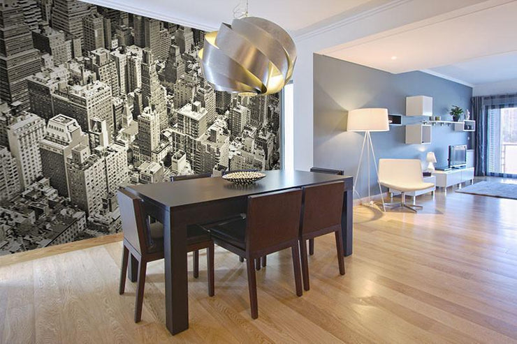 Vintage Monochrome of New York Wall Mural-Cityscapes,Vintage,Featured Category-Eazywallz