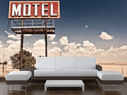 Vintage Motel Sign on Route 66 Wall Mural-Transportation,Vintage-Eazywallz