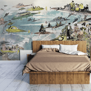 Vintage Steam Punk Wall Mural-Cityscapes-Eazywallz