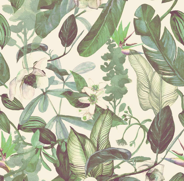 Watercolor Vintage Jungle Wallpaper