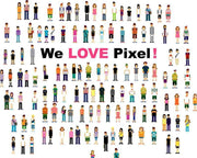 We love pixel! Wall Mural-Urban,Modern Graphics-Eazywallz