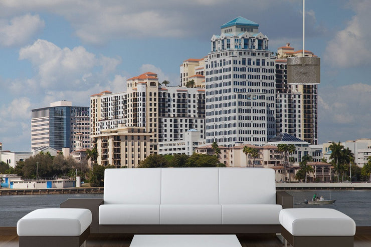 West Palm Beach Skyline Wall Mural-Cityscapes-Eazywallz