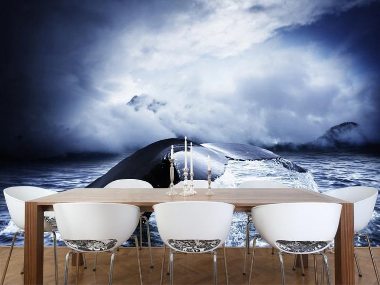 Whale tail Wall Mural-Animals & Wildlife-Eazywallz