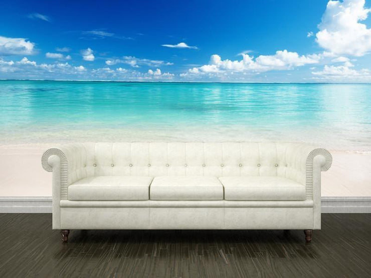 White sand beach Wall Mural-Tropical & Beach,Best Seller Murals-Eazywallz