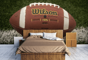 Wilson Football Close up Wall Mural-Sports-Eazywallz