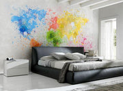 World Map Painting Wall Mural-Maps-Eazywallz