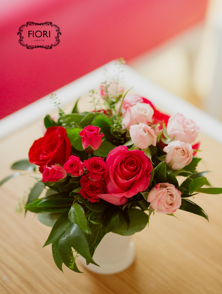 Valentine's Embrace Rose Arrangement