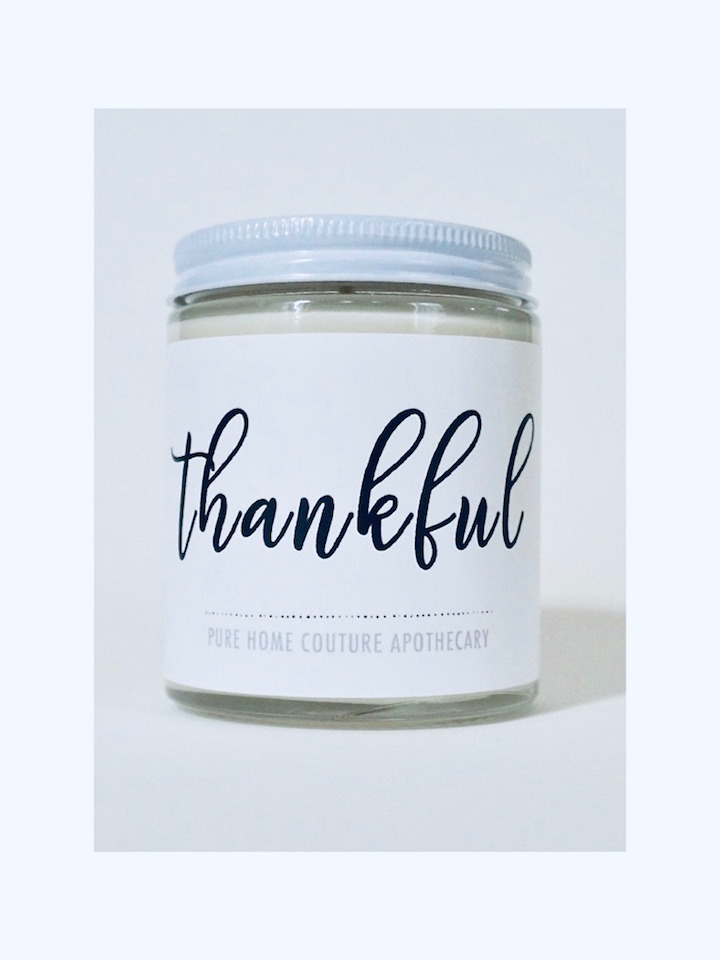 Thankful - Bourbon Vanilla Scented Candle