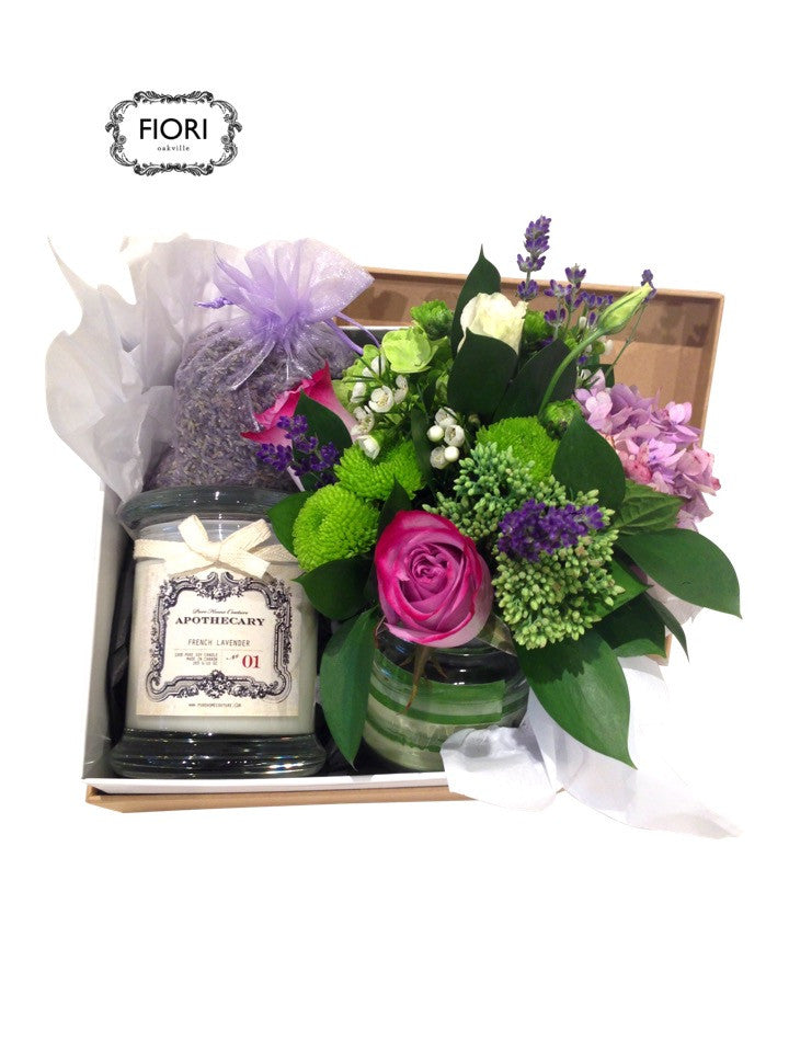 Posie & Scented Candle Set
