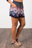 Sunset Shorts in Navy/Pink