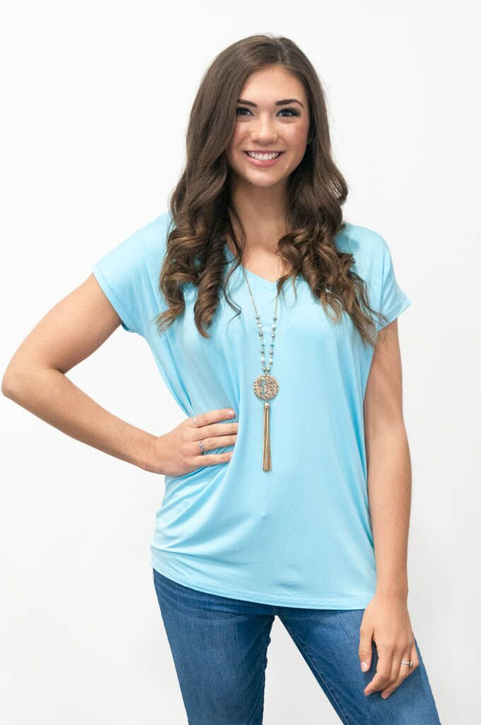 Piko Cap Sleeve in Limpet Shell (V-Neck)