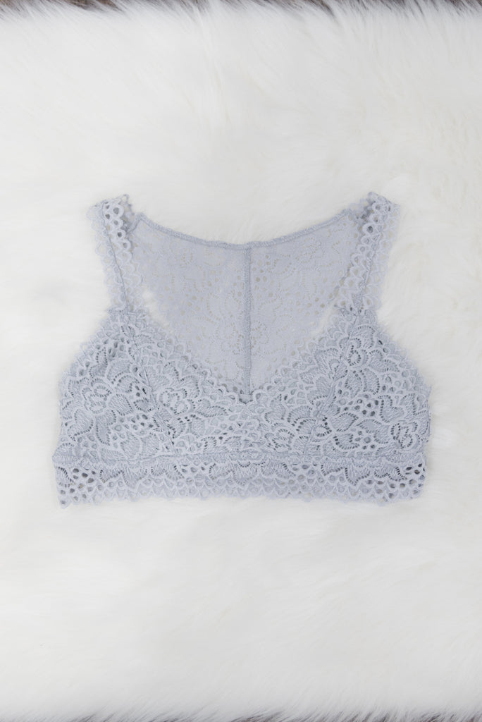 French Lace Bralette in Harbor Mist