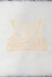French Lace Bralette in White Smoke