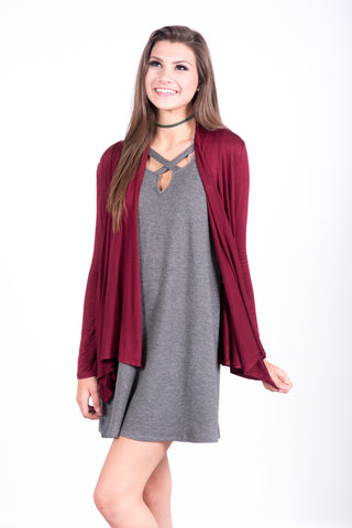 Summer Nights Cardigan in Burgundy