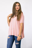 Piko Knot Top in Vintage Blush