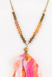 Spring Hues Necklace in Orange/Pink