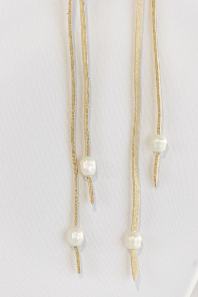 Strung Together Necklace in Cream