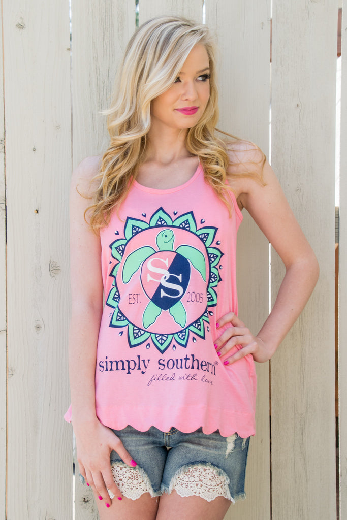 Simply Southern Tank in Turtle