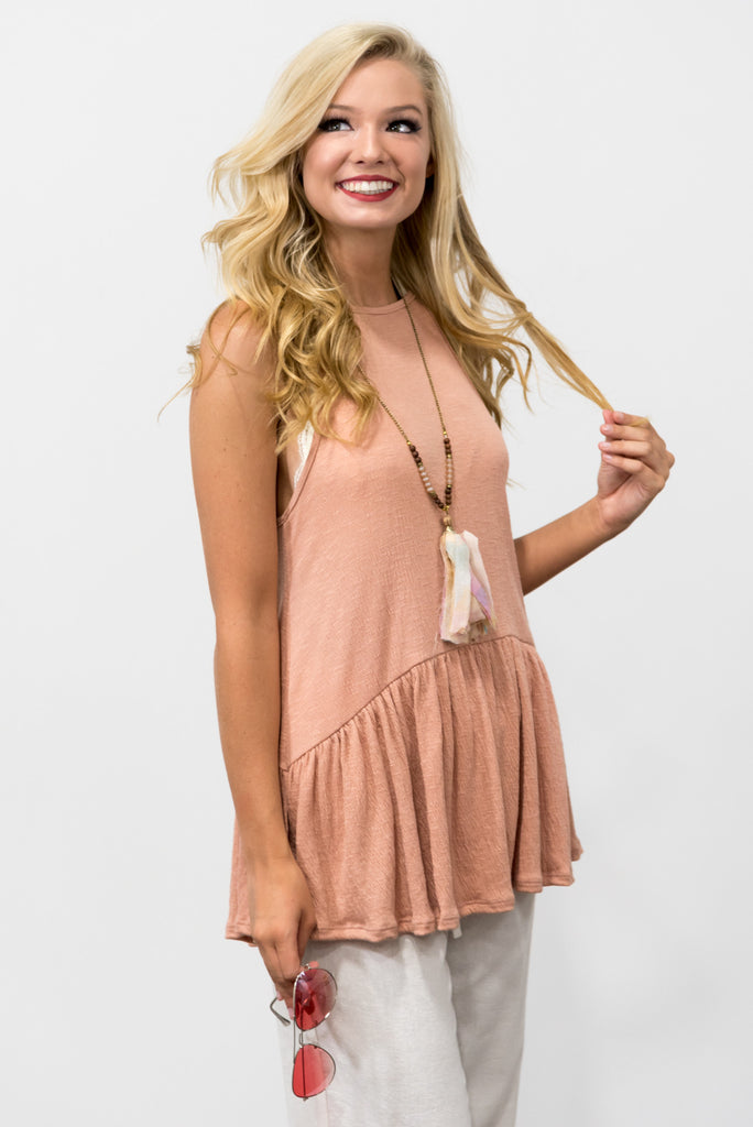 Rosemary Top in Peach