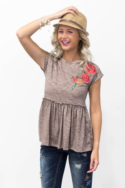 Blossom Top in Mocha