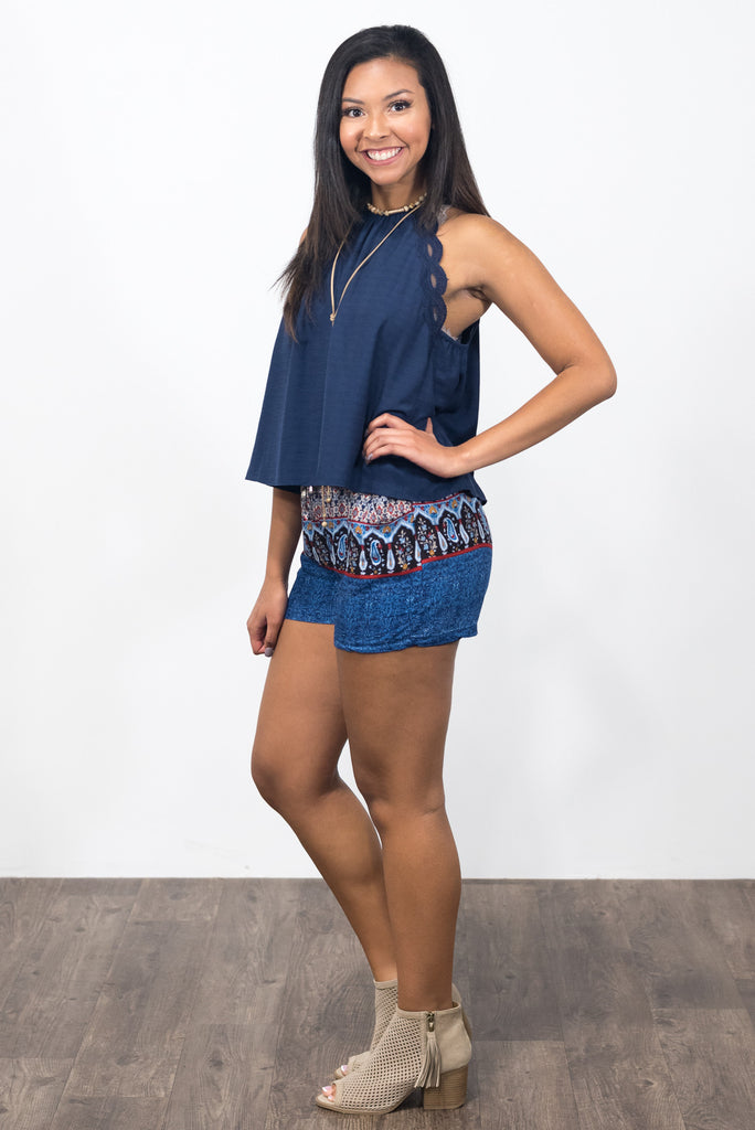 Sunset Shorts in Blue