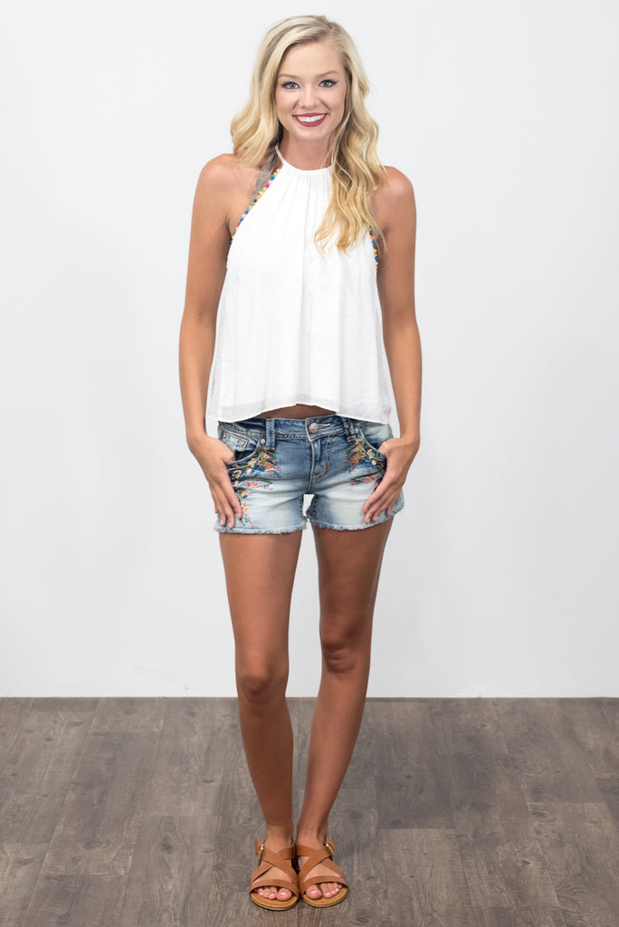Sparks Fly Top in White